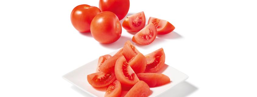Tomate surgelée coupé en quartier