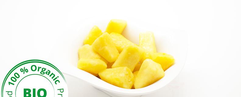 morceaux ananas bio surgelés